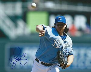 GFA Kansas City Royals LUIS MENDOZA Signed 8x10 Photo L3 COA