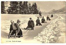 CPA Suisse Sports d'hiver  Luges Lugeurs