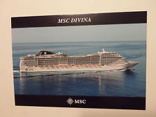 ms MSC Divina . Ship's Stamp Mediterranean Shipping Co., Italy Cruise Boat Ship