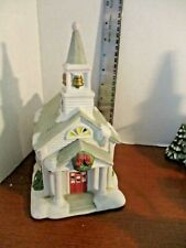 Partylite~ Porcelain Christmas Village Church Tealight / Votive Candle Holder