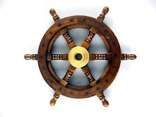 Messing Lenker Holz Piraten Schiffssteuerrad Ruder Wood Ship steering wheel
