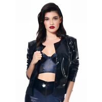 Patrice Catanzaro, Bridget, Blouson femme noir en vinyle sexy style perfecto