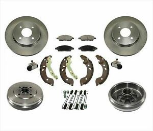 Brake Rotors Pads Drums Shoes Springs for Nissan Versa 12-15 Note 15-17