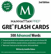 GRE FLASH CARDS by Manhattan Prep '500 Advanced Vocabulary Words'