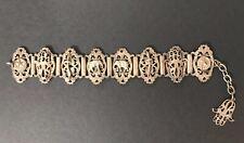 Vintage Hamsa Bracelet Hand of Fatima Elephant Sword Silver Bracelet