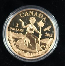 **2013** Miss Canada, An Allegory, Proof Bronze $3 Dollar