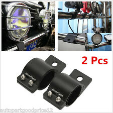 2pc 49-54mm Car SUV Offroad Bull Bar LED Work Driving Lamp Clamps Mount Brackets