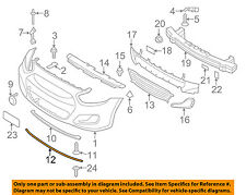 HYUNDAI OEM 12-17 Accent Front Bumper-Seal Strip 863571R000