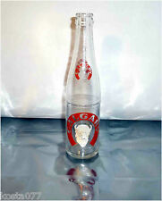 Vintage Calgary Buffalo Head, 10oz painted label clear glass soda bottle