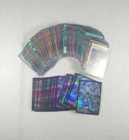 YuGiOh 125+ Cards & 25+ Sleeve Lot - Common, Uncommon, Rare, Holo, Etc.