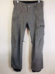 BURTON Men's XS DryRide HeatherGray Cargo Insulated Snowboard Pants 30 x 32