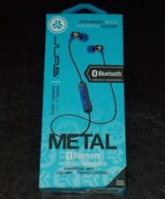JLab Audio Metal Bluetooth Wireless Earbuds, Blue - 8mm Driver, 6 Hour Battery.