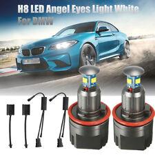 2x 40W 6000K White H8 LED Angel Eyes Halo Ring Marker Light Bulbs For BMW E92