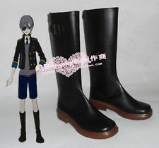 Black Butler Ciel Phantomhive Black Long Cosplay Shoes Boots H016