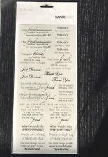 Scrapbook Embellishment Rub On Transfer KaiserCraft rubons friends 25 phrases