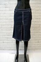 MARINA  Donna Gonna Slim in Cotone Taglia Size 30 44 Skirt Women Casual Blu