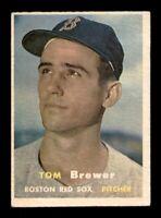 1957 Topps Set Break # 112 Tom Brewer VG-EX *OBGcards*