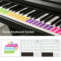 Stave Stickers Electronic Keyboard Sticker Pianos Decoration Music Label Note