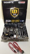 AS-IS, GIGABYTE B150M-D3H (DDR3) LGA1151, 6 SATA3 SATA-E, 12 USB, m-ATX, F7MY10