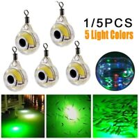 Rotating Underwater Fish Trapping Electronic Sequined White LED Fishing Light