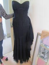 Escada Navy silk full length evening dress sz 40 UK 12