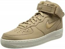 Nike Mens Air Force 1 Mid Retro PRM Leather - 941913 200 - Sz UK 8.5 - Mushroom