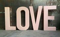4 Buchstaben 35 cm Alphabet Schriftzug festliche Atmosphäre LOVE Event Styropor