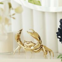 Bronson Brass Rustic Crab Large 22cm Polished Hamptons Coastal Home Decor