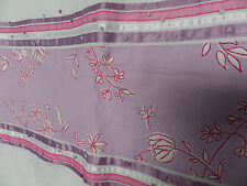 BHS White Single Duvet with Lilic and Pink Floral Trim 50% Cotton 50% Polyester