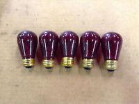 General Electric 130V Medium Base 11-Watt Red Light Bulb - Pack of 5