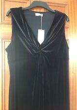 MARKS & SPENCER PER UNA VELOUR BLACK MAXI DRESS SIZE 10 BRAND NEW