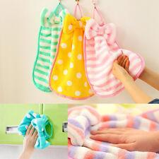 1Pc Multiple Colors Cute Cartoon Kitchen Hanging Fleece Velvet Hand Dry Towel