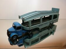DINKY TOYS 982 BEDFORD + PULLMORE CAR TRANSPORTER - RED 1:50? - GOOD CONDITION