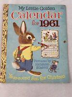 My Little Golden Calendar For 1961 Richard Scarry Preowned Written In P7