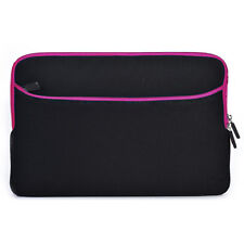"13"" Laptop Sleeve Case Bag Hot Pink / Black for Sony Laptop Tablet Ultrabook"
