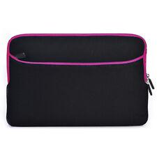 """13"""" Laptop Sleeve Case Bag Hot Pink / Black for Sony Laptop Tablet Ultrabook"""
