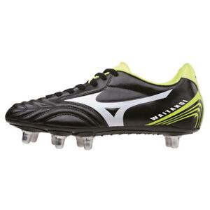 Mizuno Waitangi CL Rugby Boots Black White Yellow  RRP £65