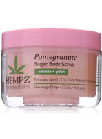 Hempz Herbal Sugar Body Scrub, Light Pink, Pomegranate, 7.3 oz
