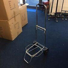 Chrome Lightweight Wheeled Shopping Trolley Push Cart Luggage Bag with wheels UK