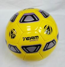 Evolution high quality hand sewn yellow soccer ball by Team Sports