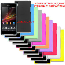 COVER PER SONY Z1 COMPACT STOCK LOTTO 100 ULTRA SLIM 0.3MM CUSTODIA THIN FROSTED