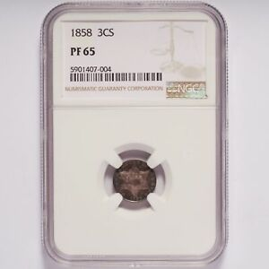 1858 Three-Cent Silver Proof NGC PF 65