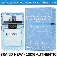 VERSACE Man Eau Fraiche EDT Men's Cologne 0.17 oz / 5ml Miniature Bottle