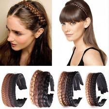 Elegant Women Girls Vintage Headband Braids Hair Band Headwear Hair Wig Tools