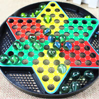 Chinese Checkers Chessboard Battle Flying Airplane Glass Marbles Kid Toy Game JF