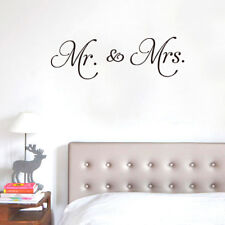 Mr and Mrs Wall Vinyl Decal Sticker Mural Quote Love Marriage Home Decor Room