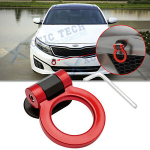 JDM Red Track Racing Sport Style Plastic Tow Hook Ring Decoration For Kia optima