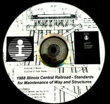 Illinois Central 1988 M of W  & Structure Standard Drawings PDF Pages on  DVD