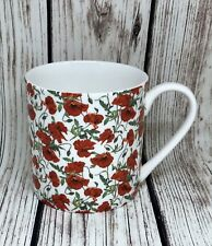BN Very Large 18oz Boxed Poppy Floral Chintz Large Pint Fine Bone China Mug