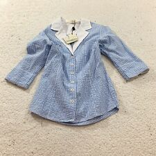 Life Blue Willi's Womens Checkered Plaid Button Down Shirt Size Small